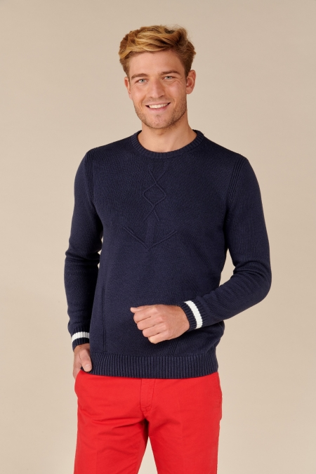 Pull Anchor col rond marine