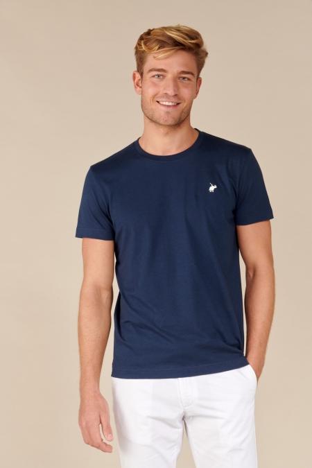 T-shirt New Basic col rond marine