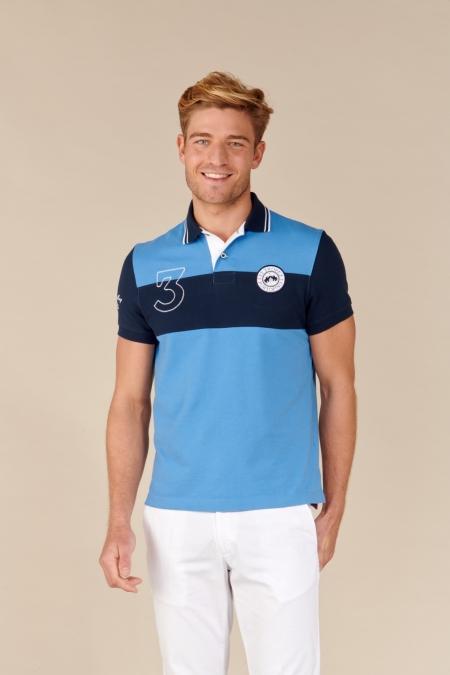 Polo Martino coton bleuet