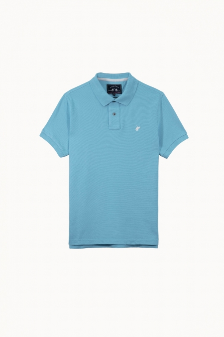 Polo Lover coton turquoise