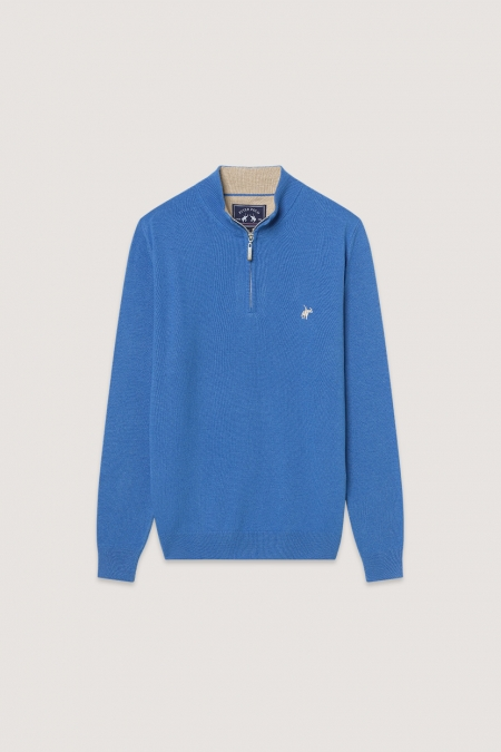Pull col montant Billy Bleuet