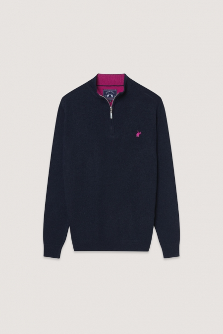 Pull col montant Billy marine