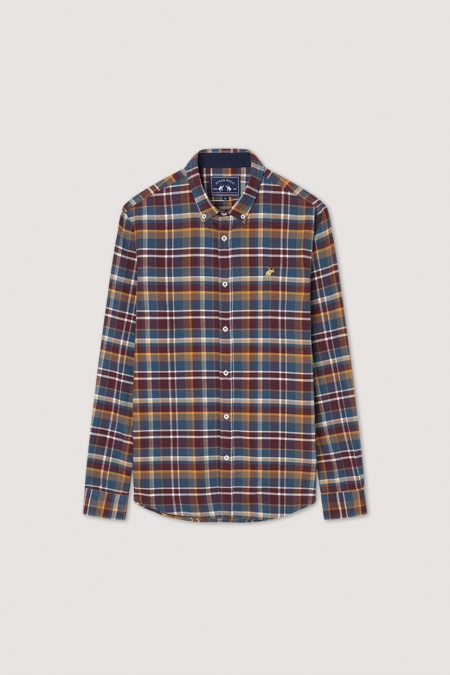 Chemise flanelle Timber pétrole