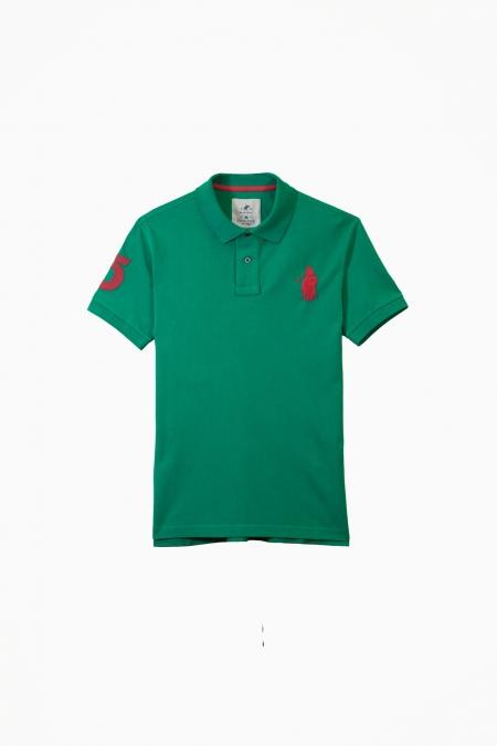 Polo Frienka coton deep green