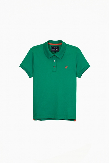 Polo Lily Woo coton deep green