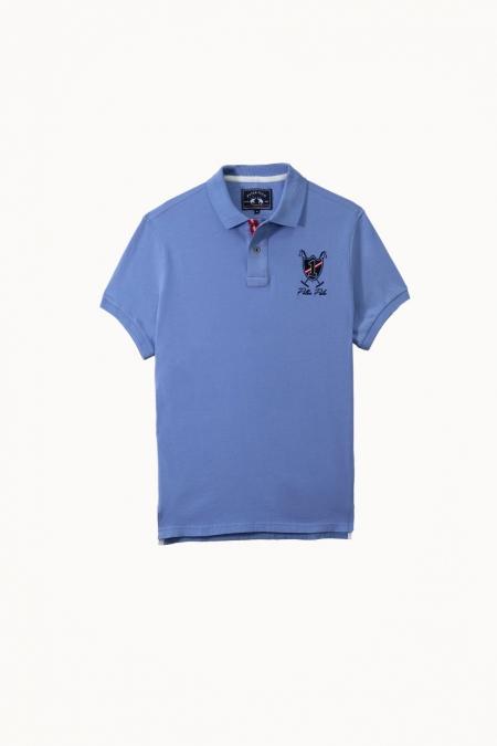 Polo Jilo jersey coton bleuet