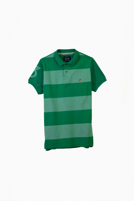 Polo Solar coton deep green