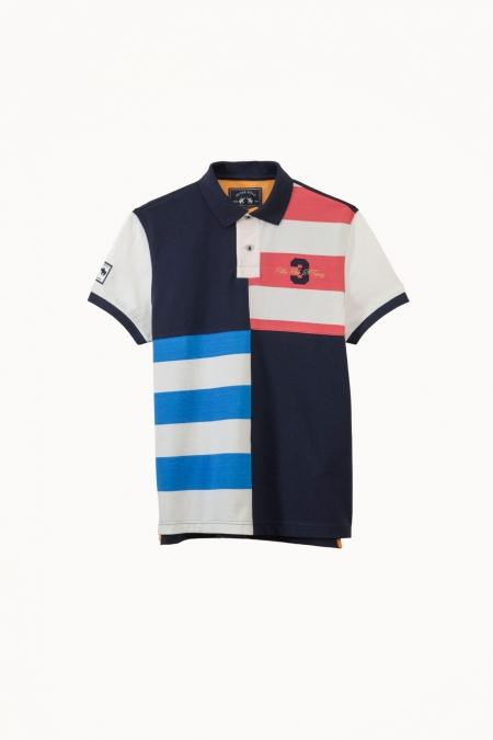 Polo Archie coton marine