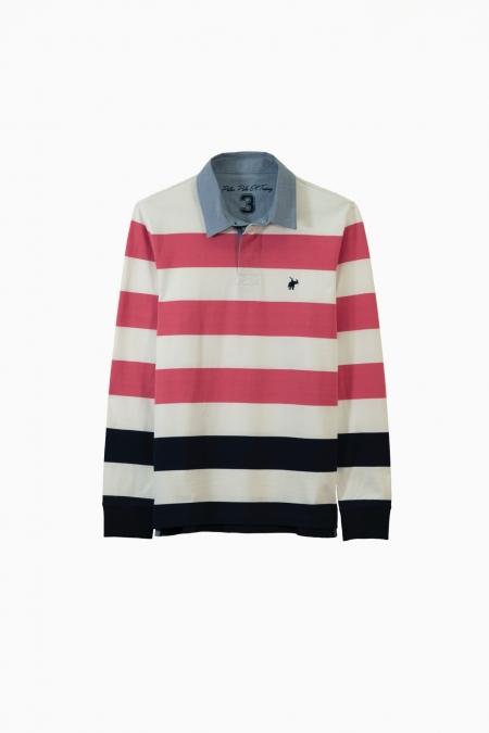 Polo Crawl jersey coton raspberry