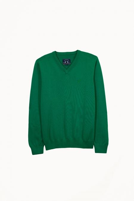 Pull Zippo col V deep green