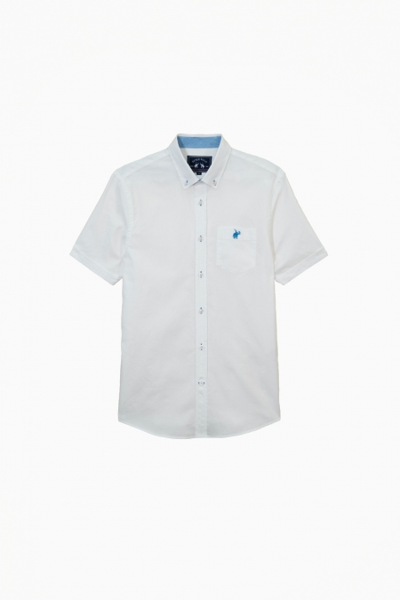 Chemise manches courtes Oxmo blanche