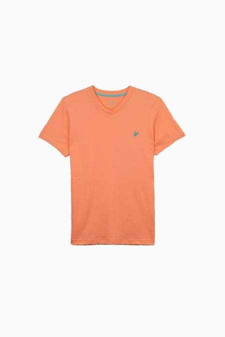 T-shirt Jules col V melon