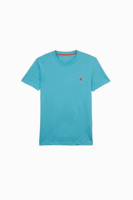 T-shirt New Basic col rond lagon