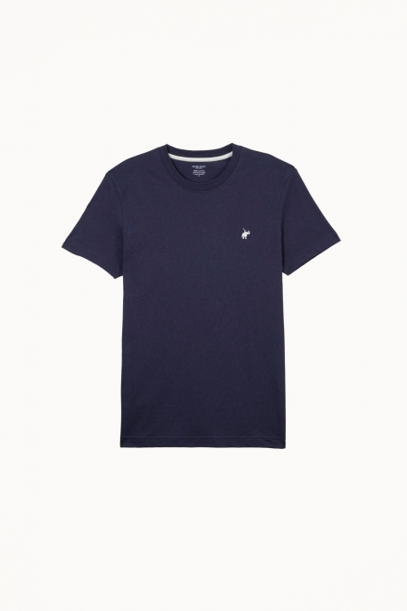 T-shirt New Basic col rond marine