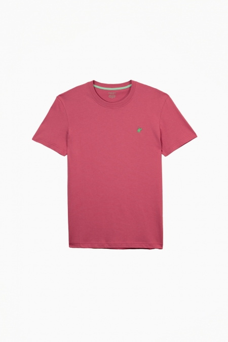 T-shirt New Basic col rond raspberry