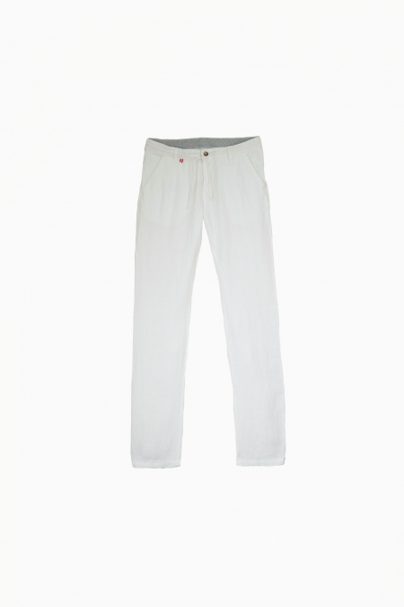 Pantalon en lin chino Connor blanc
