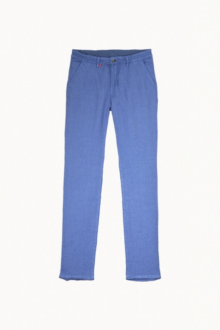 Pantalon en lin chino Connor bleuet