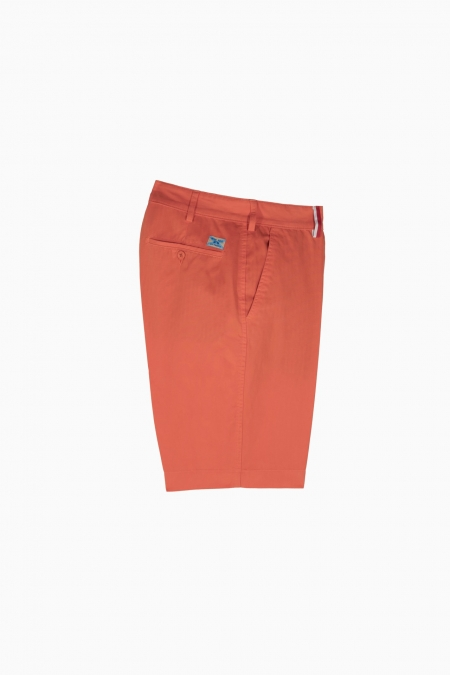 Short coupe chino Duc corail