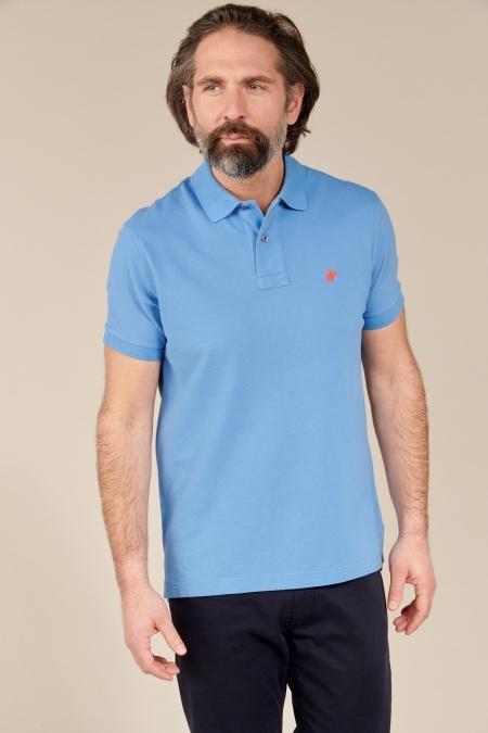 Polo Lover coton bleuet