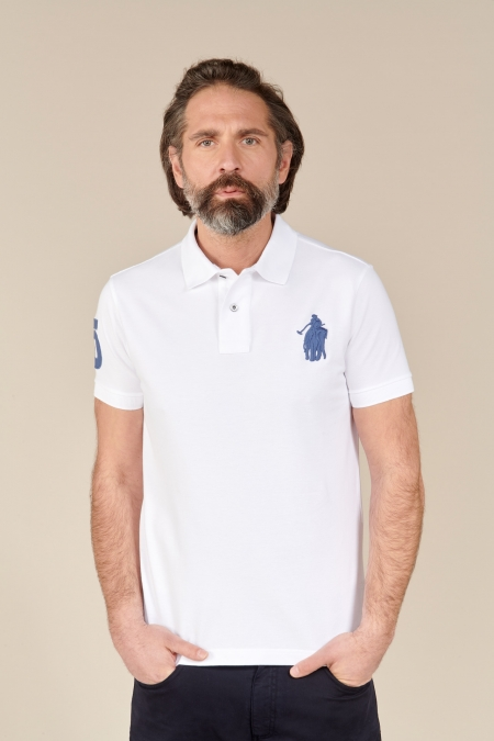 Polo Frienka coton blanc