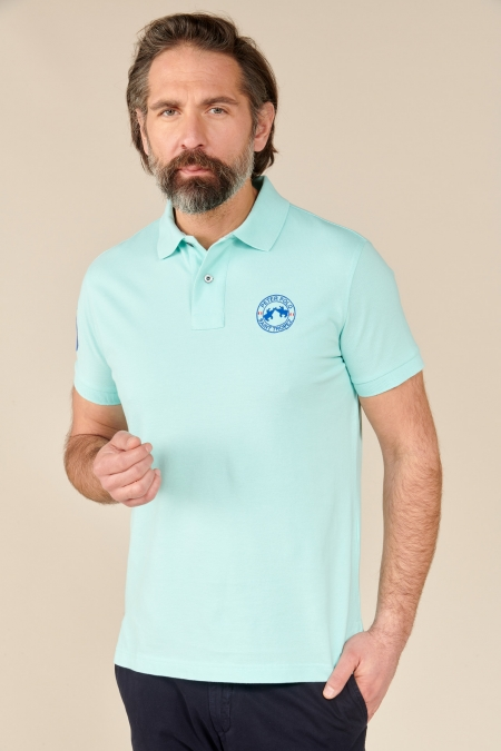 Polo Flag coton acqua