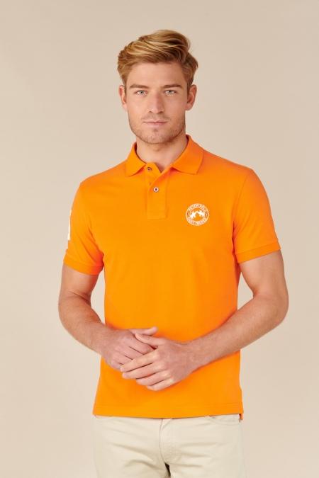 Polo Flag coton tangerine