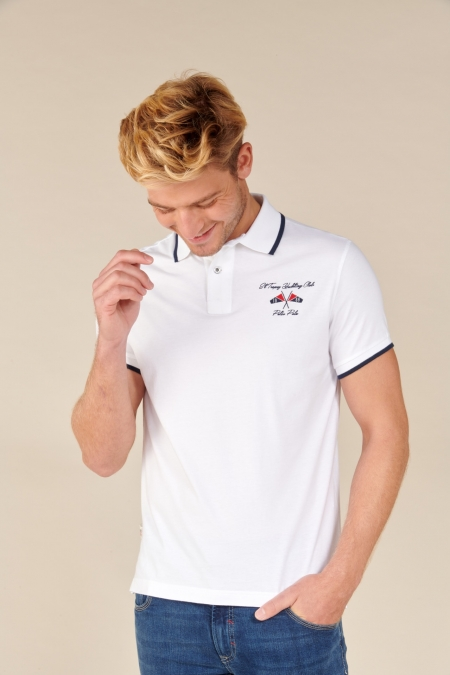 Polo Yacht jersey coton blanc