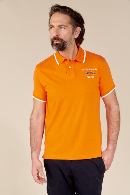 Polo Yacht jersey coton tangerine