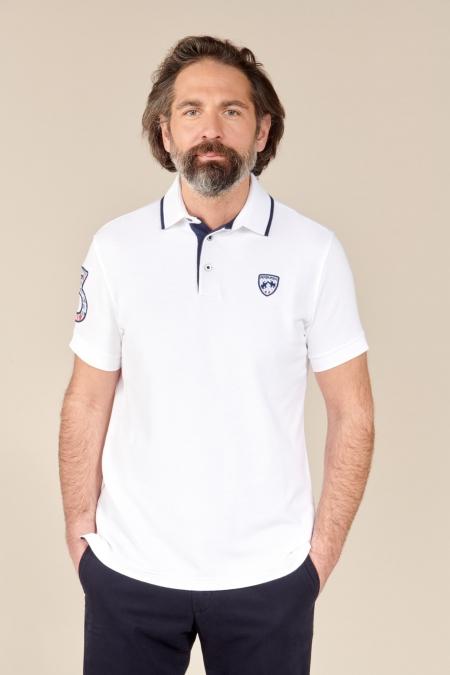 Polo Alden coton blanc