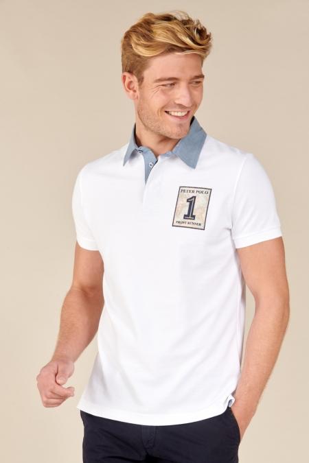 Polo Traveller coton blanc