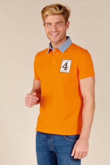Polo Traveller coton tangerine