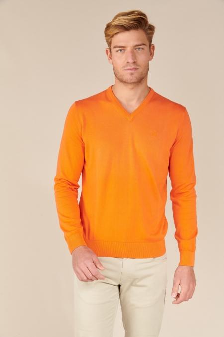 Pull Zippo col V tangerine