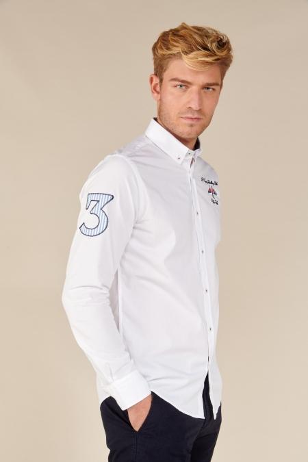 Chemise fantaisie Cayat blanc