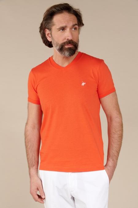 T-shirt Jules col V fiesta