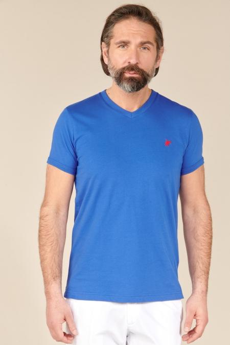 T-shirt Jules col V ocean