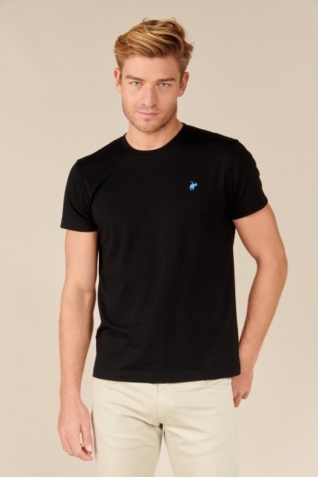 T-shirt New Basic col rond noir