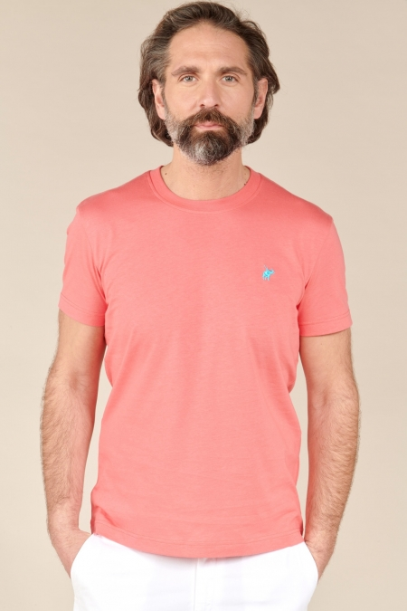 T-shirt New Basic col rond rose indien