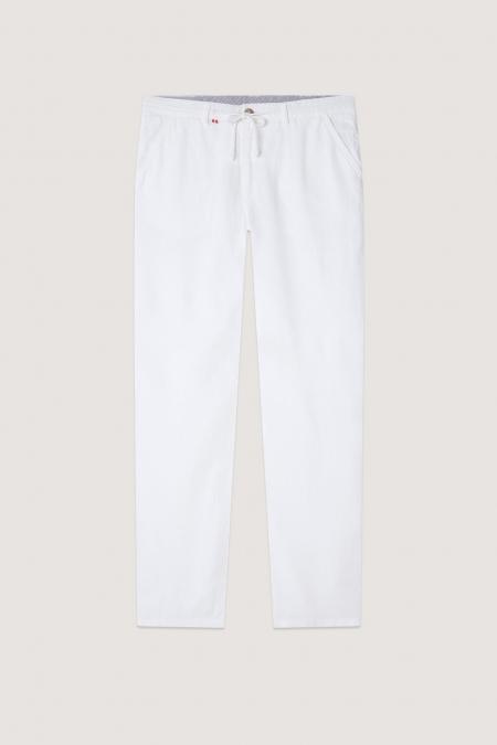 Pantalon en lin chino Connor blanc