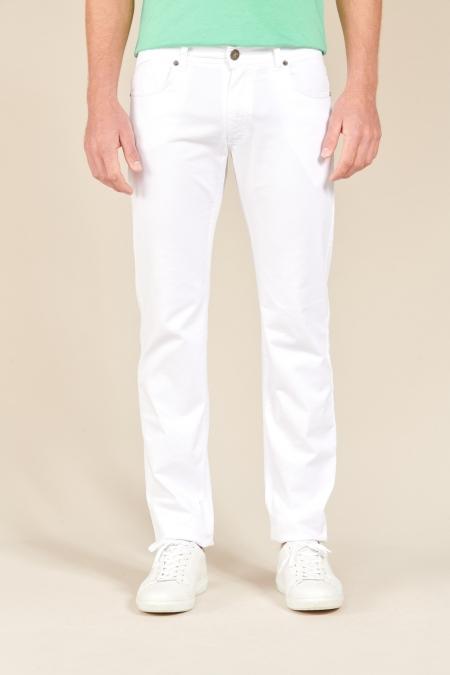 Pantalon basique Presto blanc