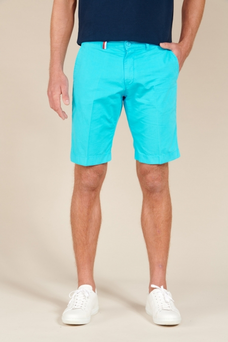 Short coupe chino Duc turquoise
